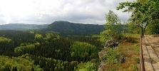 Foto Blick in die Sächsische Schweiz vom Kuhstall