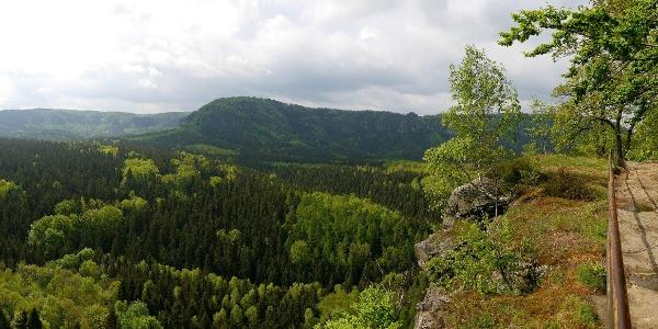 Blick in die Sächsische Schweiz vom Kuhstall