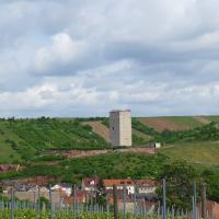 """....Blick auf den Schwabsburger """"Schloßturm"""""""