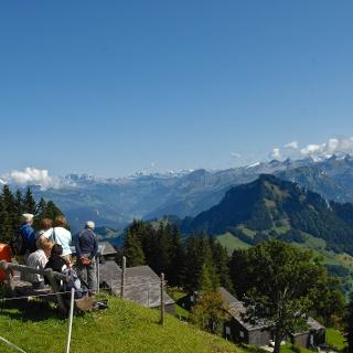 Blick in die fantastische Bergwelt auf Rigi Scheidegg.