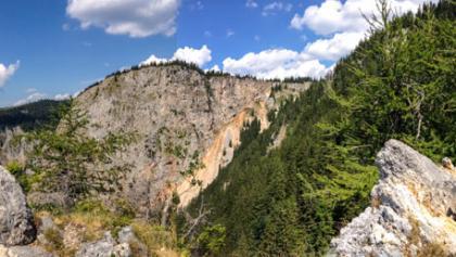 Herrliches Rundum-Panorama vom Turmstein bei der Kienthalerhütte