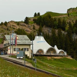 Start der Wanderung auf Rigi-Staffel