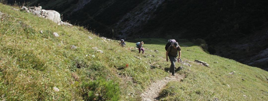 Aufstieg aus dem Talschluss des Großen Walsertals