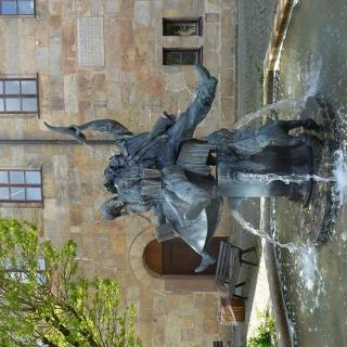 Wallensteinbrunnen am Schloßplatz