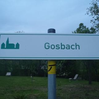 Gosbach, Startpunkt des Goißatälesweg!