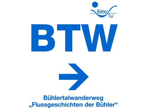 Wegmarkierung Bühlertalwanderweg   - © Quelle: Hohenlohe + Schwäbisch Hall Tourismus e.V.