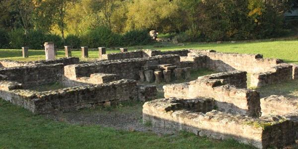 Römerbad gefasste Fundamente