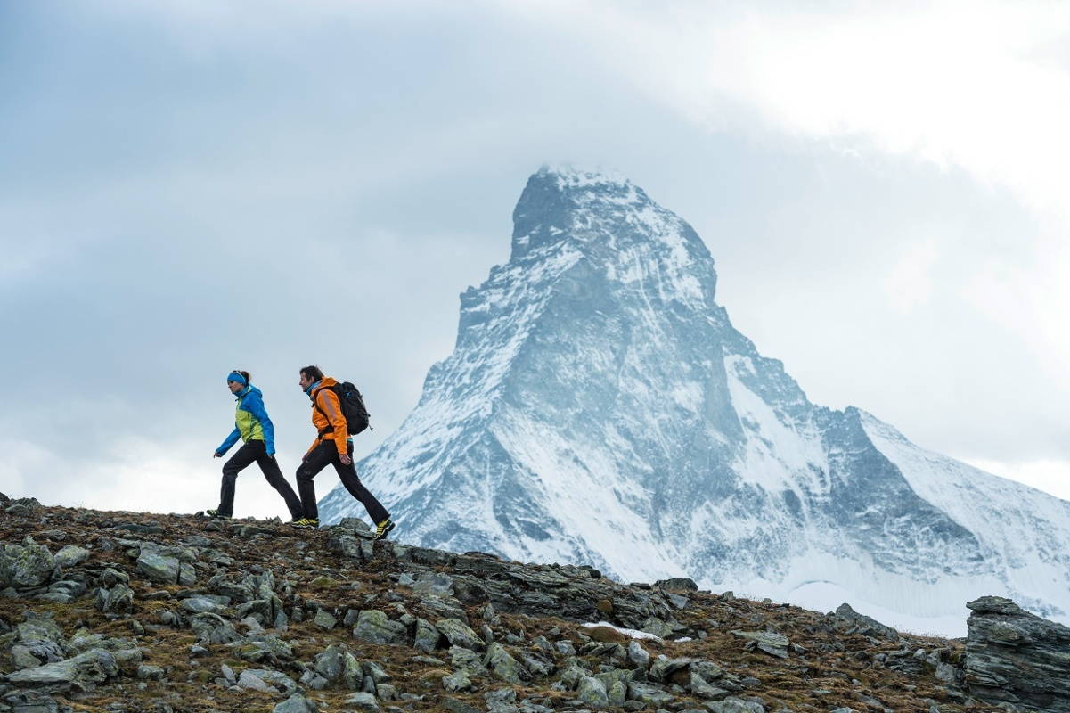 Hut trekking in the middle of Zermatt's mountain world