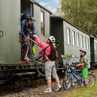 Zustieg in die Döllnitzbahn