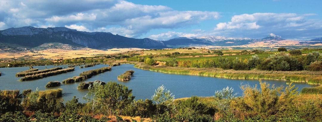 Blick auf die Lagunas de Laguardia