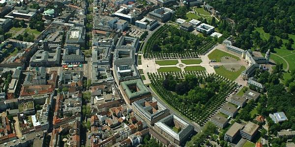 Schleifenroute - Stadt Karlsruhe mit Schloss