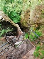 Foto Abstieg von den Schrammsteinen