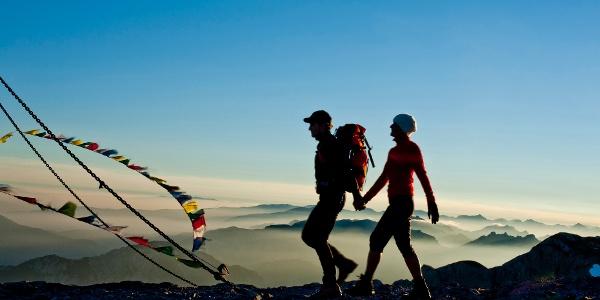 Ankunft am Hochschwab-Gipfel