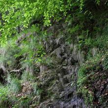 Eine der Kletterpassagen am Flößersteig