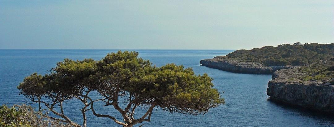 Blick auf Küste