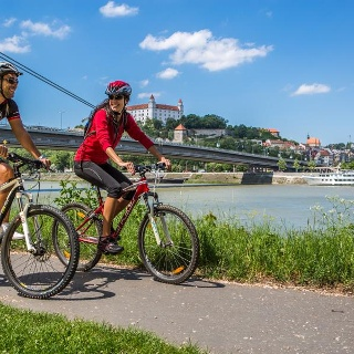 Radfahrer in Bratislava