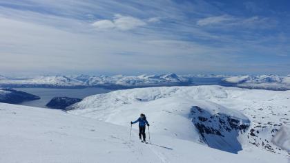 Aufstieg zum Gipfel des Tromsdalstinden