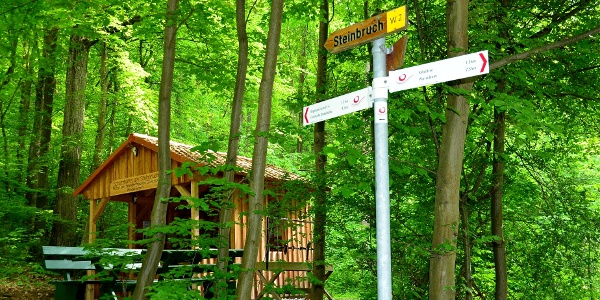 Wanderhütte am Steinbruchweg