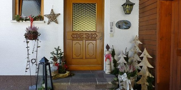 geschmückter Eingang