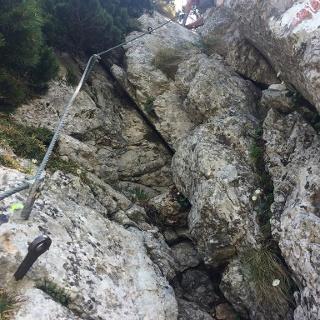 Kamin im oberen Bereich der Wildfährte (4.6.2015)