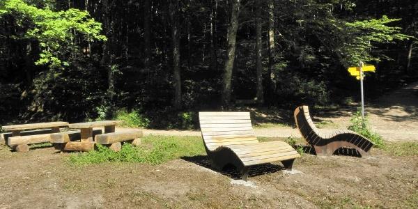 Rastplatz bei der Krebsbachtalhütte