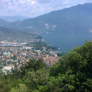 view from sentiero della Pinza