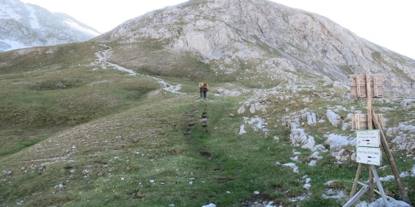 Aufstieg zum Hutkogelsattel vom Ochsenreichkar