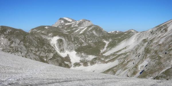 Blick vom Hutkogelsattel zurück zum Hochschwab