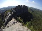 Foto  Blick von der Schrammsteinaussicht in Richtung Westen