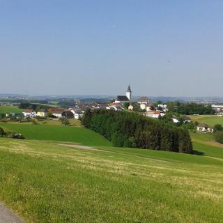 Blick vom Straußberg nach St. Peter