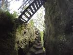 Foto Der letzte Anstieg zum Arnstein (Ottendorfer Raubschloss)