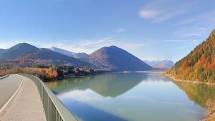 Blick auf den Sylvensteinsee