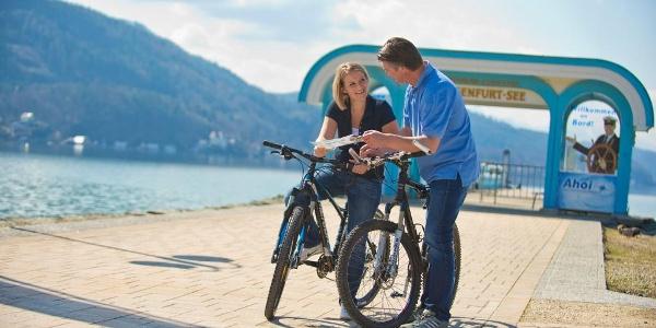 Mit dem Fahrrad am Wörthersee, Foto: Bauer