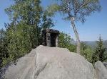 Foto Der Gipfel der Hohen Liebe mit der Gedenkstelle für verstorbene Bergsteiger