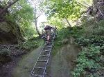 Foto Eine der zahlreichen Aufstiegsleitern zur Schrammsteinaussicht