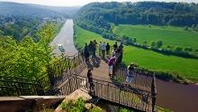 Rundtour Weser-Skywalk (Holzweg & Klippensteig)