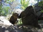Foto Interessante Felsengebilde oberhalb der Dorfbachklamm
