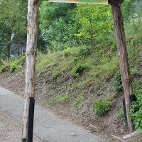 Der Startpunkt zum Bergbau Wanderweg am Besucherbergwerk