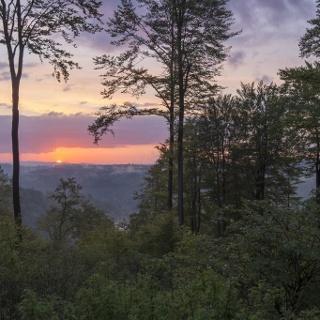 Sonnenuntergang über Jagdhaus