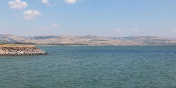 Herrliche Landschaft am See Genezareth