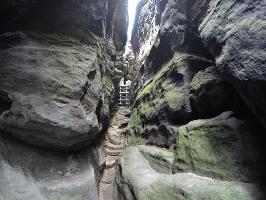 Foto Eine der wunderbaren Stiegen am Gohrisch - hier der leichtere Ostaufstieg