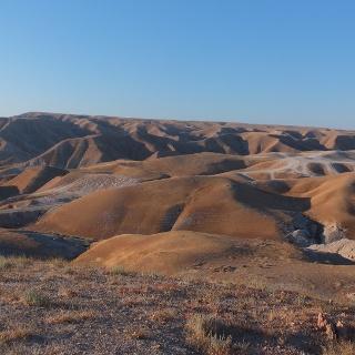 Die einzigartige Landschaft der Judäischen Wüste rund um Nabi Musa