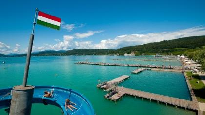 Blick aufs Strandbad Klagenfurt, Foto: Gerdl