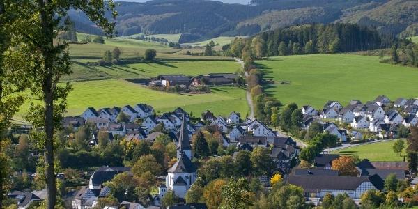Blick über die Ferienregion Eslohe
