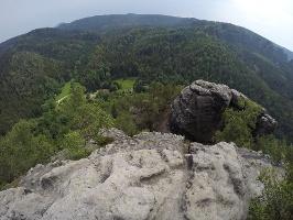 Foto Blick vom Großen Teichstein - unten das Zeughaus