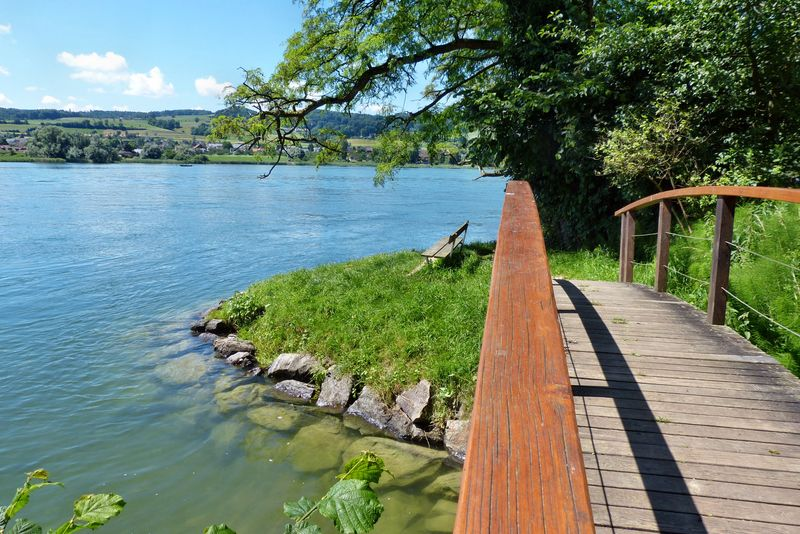Brücke in Richtung Stein am Rhein