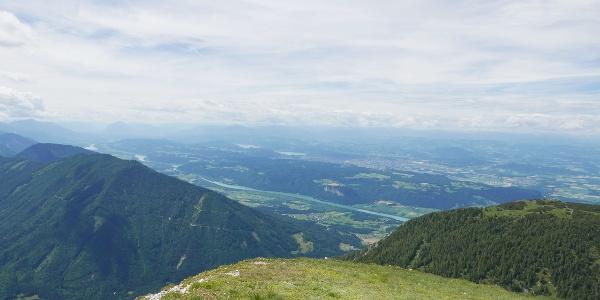Blick auf die Drau, Klagenfurt und den Wöthersee