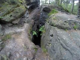 Foto Das Mundloch der Eishöhle