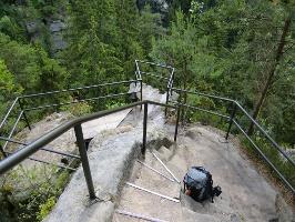 Foto der Aussichtspunkt am Herrmannseck oberhalb des Kirnitzschtals