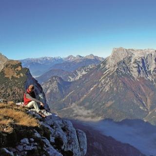Gipfelrundschau am herrlich angelegten Panoramasteig